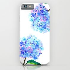 blue+purple+hydrangea+iPhone+&+iPod+Case+by+Color+And+Color+-+$35.00