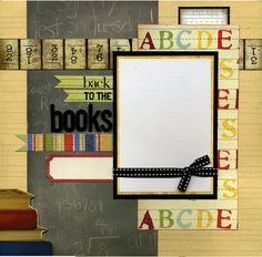 12x12 Premade School Scrapbook Page Back by SusansScrapbookShack, $16.95