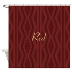 Chic Bright Burgundy Red Pattern Shower Curtain