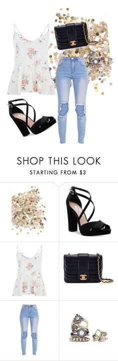 """Untitled #633"" by aichaoulmekki ❤ liked on Polyvore featuring Topshop, Nina and Chanel"