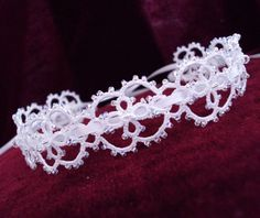 Lace Bridal Headband / Choker in Tatting