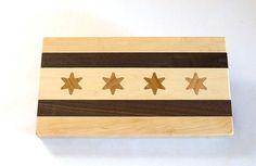 Chicago Flag Cocktail Board by mattgillengerten on Etsy, $50.00