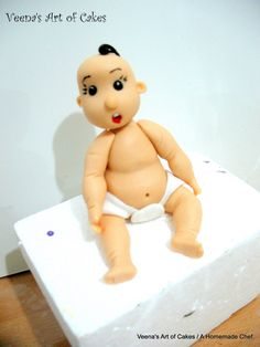 How to make a Gum Paste Baby Face