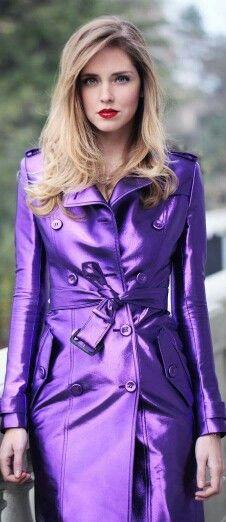 Very pretty & bright shade of purple.