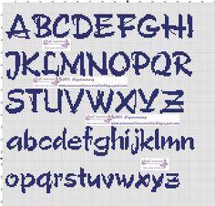 Alphabet alfabetico cross stitch.