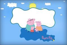 Convite, Moldura e Cartão Peppa Pig e Família: