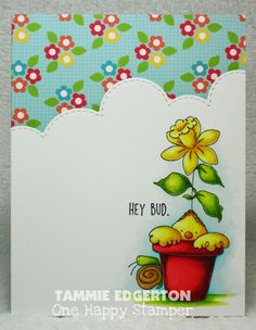 HEY BUD by Tammie E - Cards and Paper Crafts at Splitcoaststampers Art Impressions, Animal Cards, Penny Black, Copic Markers, Crafty Projects, E Cards, Flower Boxes, Bud, Paper Crafts