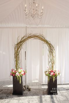 Arches branches and wedding arches on pinterest for Diy indoor wedding arch