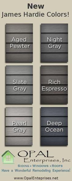 New James Hardie Siding Colors Infographic By Opal Enterprises