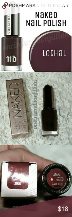 Urban Decay NAKED Nail Polish - Lethal EXCLUSIVE & LIMITED EDITION  New in Box - Never Used  Full Sz & Authentic  Color: Lethal (reddish brown cream)  Get Naked down to your toes with this cult-favorite shade.   It features an UD custom-designed cap topped with a skull (complete with roses for the eyes). And wait until you try the high-performance, 400-strand brush!  Long-wearing & chip-resistant, UD's formula has a high-gloss finish that's tough & durable, yet flexible. 3-free formulated…
