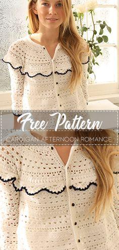 Cardigan Afternoon Romance – Pattern Free – Easy Crochet