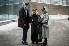 See how locals make the best out of a snowy situation in our street style coverage of Kiev Fashion Days.