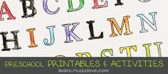 Lots of cute printables on this page, including worksheets about oceans, pirates, ABCs and more.