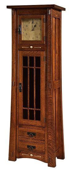 THE AMERICAN BUNGALOW GLASS DOOR  STANDING CLOCK
