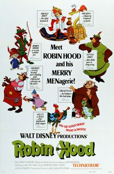 'Robin Hood,' Released by Walt Disney Studios in 1973-  I used to love this movie!