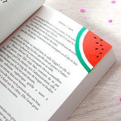 Un marque-pages pastèque - Paper watermelon bookmark -Marie Claire Idées