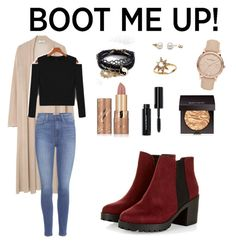 """""""Chelsea boot"""" by lllaeticia ❤ liked on Polyvore featuring MANGO, Paige Denim, Burberry, Anzie, ASOS, tarte, Bobbi Brown Cosmetics and Laura Mercier"""