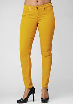 cj by cookie johnson joy jeans in mellow yellow
