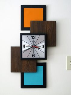 prime mid century modern clock mid century modern grandfather clock vintage wall clock mid century modern atomic mid home decorations ideas Best Wall Clocks, Cool Clocks, Unique Wall Clocks, Clock Art, Diy Clock, Mid Century Modern Wallpaper, Clock Wallpaper, Wall Clock Design, Wall Clock Decor