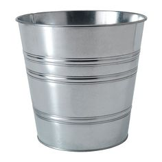 SOCKER Plant pot IKEA Galvanized for rust resistance. I love planting my inside plants in galvanized containers because it gives a very mod/industrial look to your home.  $5.99