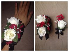 DIY PROM/FORMAL ARTIFICIAL CORSAGE AND BOUTONNIÈRE SET: White Roses