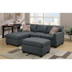 "Andover Mills Birchview 112"" Reversible Chaise Sectional Sofa & Reviews 