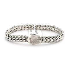 Solid Sterling Silver Rhodium Plated White Sapphire Textured Woven Bracelet, *** See this great product. (This is an affiliate link) Woven Bracelets, Link Bracelets, White Sapphire, Weaving, Belt, Texture, Sterling Silver, Stuff To Buy, Accessories
