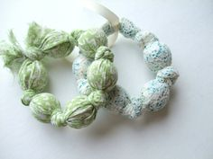 Marble or wooden beaded bracelet... (I've made these! So cute and as easy as can be!)