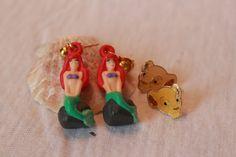 Vintage Disney Earrings Ariel Sitting on a Rock by BelladeVintage, $19.99