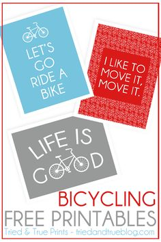 Bicycling Free Printables- framed as present for dad?