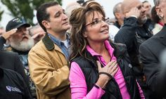 Sarah Palin and Ted Cruz lead shutdown protest at war memorial - THAT'S RICH!!! Stand beside them WHILE WORKING NON-STOP TO DENY THEIR FAMILIES FROM HEALTHCARE AND FOOD STAMPS!!! HAVE THESE PEOPLE NO SHAME WHATSOEVER??????? STAB 'EM IN THE BACK MUCH???