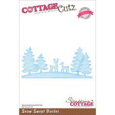 CottageCutz Elites Die Snow Swept Border