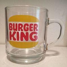 Vintage Burger King Clear Glass Luminarc Coffee Mug Cup | eBay