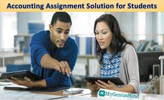 Get accounting assignment help solution in Australia by 10+ years expert writers in accounting topics. My Genius Mind provide online accounting homework solutions for students at very low amount. Accounting Services, Homework, 10 Years, Writers, Finance, University, Students, Australia