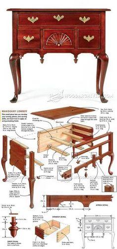 Lowboy Plans - Furniture Plans and Projects   WoodArchivist.com