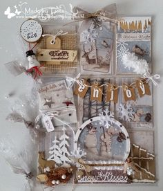 Winter Mixed Media Pocket Letter