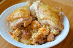 Chicken & Shrimp Paella - Chorizo, chicken, shrimp with cauli rice | virginia is for hunter-gatherers