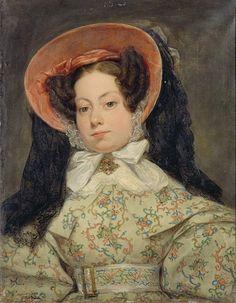 Gillot Saint-Evre (France, 1791–1858) французский художник и писатель, Portrait d'une princesse de Bragance, 1832