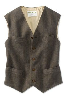 Orvis Washed Tweed Dress Vest | eBay