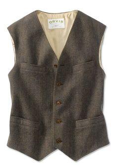 Orvis Washed Tweed Dress Vest | eBay