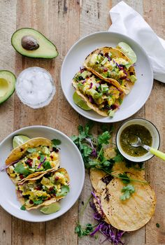 Vegetarian Breakfast Tacos. This easy taco recipe can be made for breakfast, lunch, or dinner!