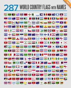 World flags icon set Premium Vector World Flags With Names, All World Flags, All Flags, World Country Flags, Country Flags Icons, General Knowledge Book, Gernal Knowledge, Countries And Flags, Countries Of The World