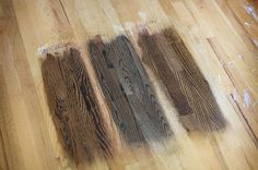 "Water popping, also called grain popping, is when you evenly dampen the sanded wood with water to make the grain contrast more with the wood around it, making the floor ""pop""."