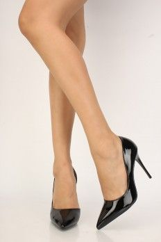 Sexy Black Pointy Toe Side Cut Out Single Sole High Heels Patent High Heel Pumps, Pumps Heels, Stiletto Heels, Spring Shoes, Summer Shoes, Just Beauty, Side Cuts, 3 Inch Heels, Prom Shoes
