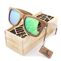 BOBO BIRD Brand Designer wooden sunglasses.