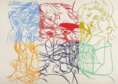 """David Salle """"The Drunken Chauffeur"""" 1983 [Neo-Expressionism]"""