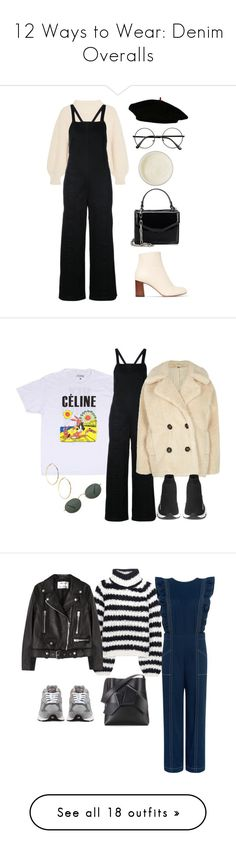 """""""12 Ways to Wear: Denim Overalls"""" by polyvore-editorial ❤ liked on Polyvore featuring overalls, waystowear, Apiece Apart, Chloé, Deux Lux, James Read, coco, coconut, GUESS by Marciano and Ray-Ban"""