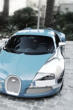 Blue and Chrome Bugatti Veyron