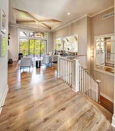 Wide plank Hardwood Floors, Square Spindles, Beams, Craftsman Style Home, Trim Details, Trusses, Vaulted Ceiling Custom Home Designs, Custom Homes, Home Bedroom, Master Bedroom, Bedrooms, Vaulted Ceiling Kitchen, Ceiling Beams, New Home Construction, Model Homes