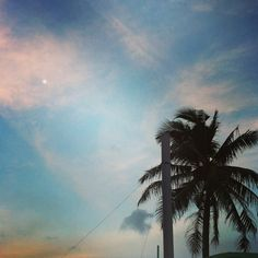 Beach sunset view